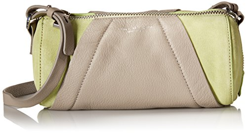 Halston Heritage Barrel Zipper Handbag