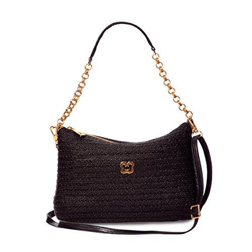 Eric Javits Luxury Designer Women's Handbag Powchky – Black