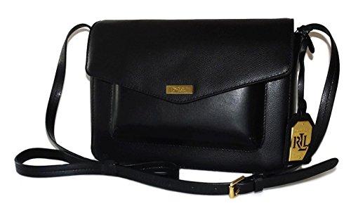 Ralph Lauren Satchel Black Genuine Leather Bramley Shoulder Bag