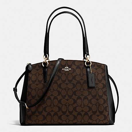 Coach Christie Carryall in Signature in /Brown/black