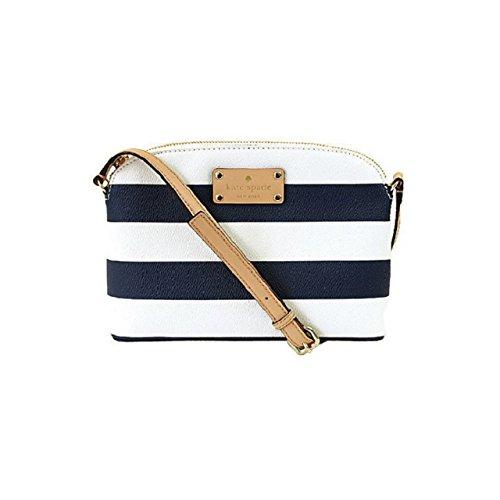 Kate Spade New York Printed Stripes Hanna Crossbody Shoulder Bag Blue and white stripes…