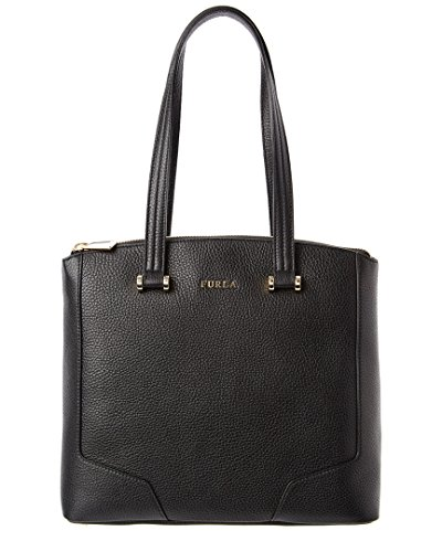 Furla Michelle Medium Leather Tote, Onyx