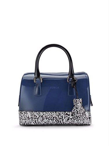 Furla Candy Cookie Blue Graffite Handbag, Blue