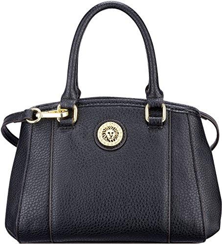 Anne Klein Kick Start Black Satchel Handbag One Size Black