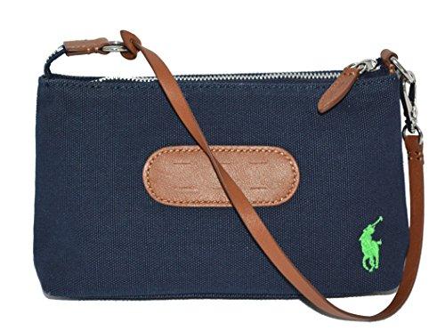 Ralph Lauren Canvas Golf Wristlet Wallet Clutch Pouch Purse