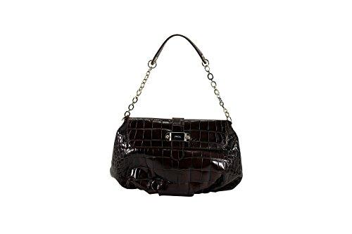 Furla Womens Baguette Handbag Brown Leather