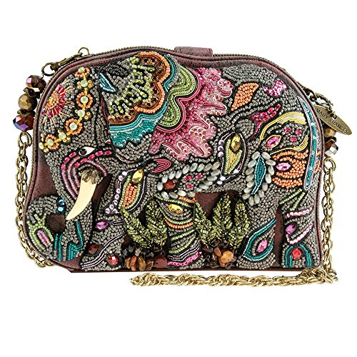 Mary Frances Elephant Dance Multi Color Beaded Evening Handbag