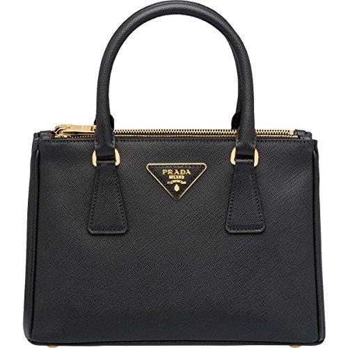 Prada Womens Saffiano Lux Leather Convertible Tote Handbag