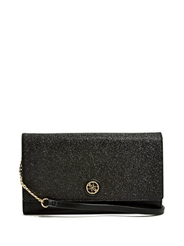 GUESS Glittered Faux-Leather Large Clutch
