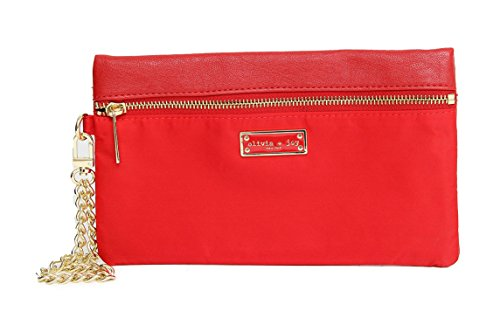 Olivia and Joy Womens Handbags Zoom Zoom Faux Leather Wristlet Clutch Wallet (See More Colors)
