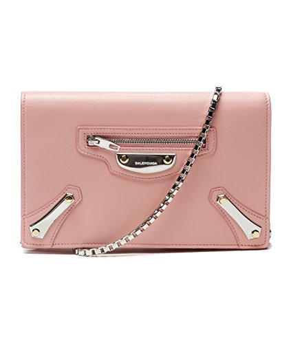 Wiberlux Balenciaga Women's Chain Strap Flap Front Real Leather Crossbody Bag