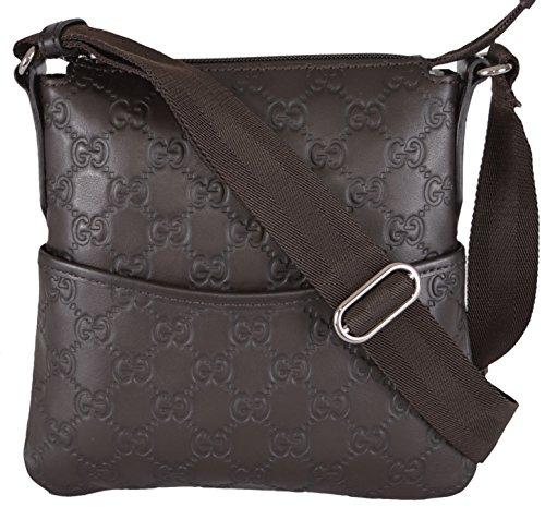 Gucci Mini Brown Leather GG Guccissima Crossbody Day Bag