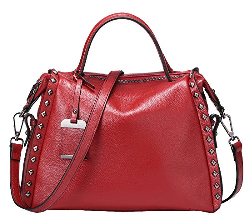 Heshe® Soft Fashion Shoulder Cross Body Tote Top Handle Bags Purse Handbags for Women Boston Style