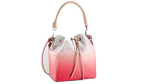 Calvin Klein womens jordan ombré leather-trimmed logo bucket bag