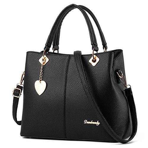 MyMiss Fashion Women PU Leather Top-Handle Tote Handbags Casual Cross-body Bag for Ladies