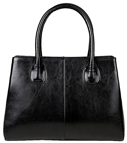 Heshe® Women's New Fashion Soft Leather Tote Handle Bag Top Handbag Shoulder Bag Cross Body Bag Personality Simple Style for Ladies