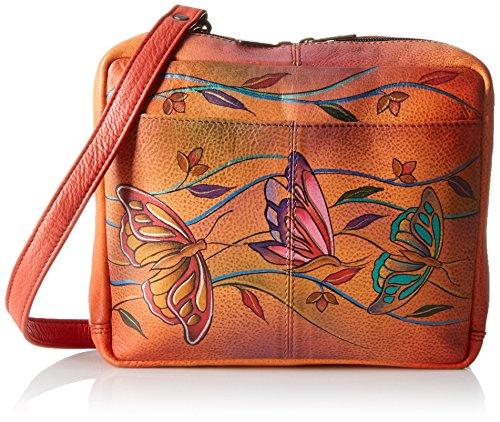 Anuschka Handpainted Leather AWT Crossbody Travel Organizer