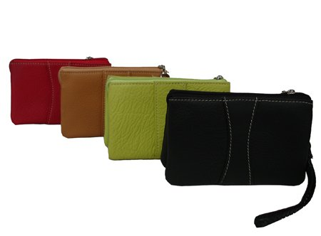 Mini Zip Leather Wristlet (526-0137)