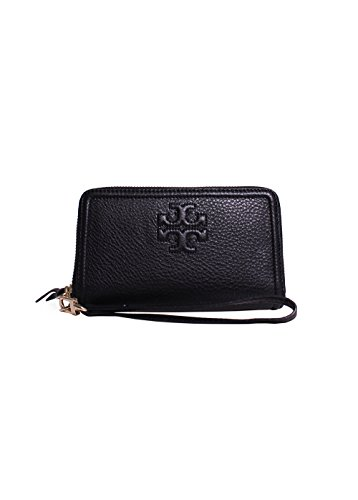 Tory Burch Thea Zip-Around Smartphone Wristlet in Black