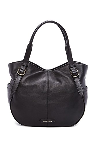 Cole Haan Iris Leather Tote Shoulder Handbag, Black