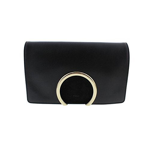 Chloe Womens Leather Flap Evening Clutch