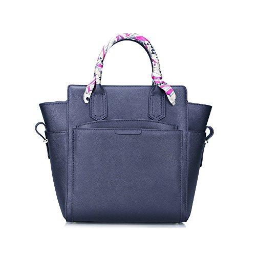 Fineplus Women Saffiano Cow Leather Purse Tote Bags Handbags Wallet On Sale Black