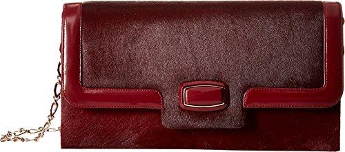 Oscar de la Renta Women's Day To Evening Bordeaux Pony Shoulder Bag