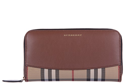 Burberry women's wallet leather coin case holder purse card bifold elmore brown