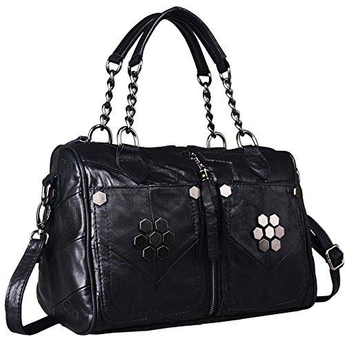 Heshe® Hobo Tote Shoulder Cross Body Bags Handbag for Womens with Link-chain