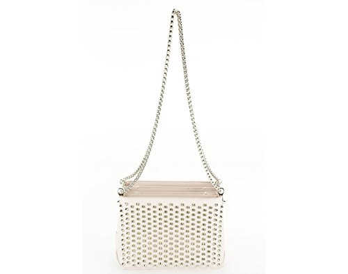 Christian Louboutin Womens Triloubi Chain Shoulder Bag – Pink Calf Leather