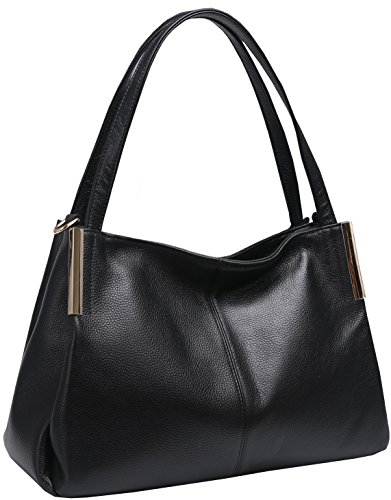 Heshe Women's Leather Designer Handbags Tote Bags Shoulder Bag with CrossBody Strap Satchel for Office Ladies