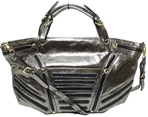 orYANY Silver Snake Embossed Leather Hobo Shoulder Bags FA514
