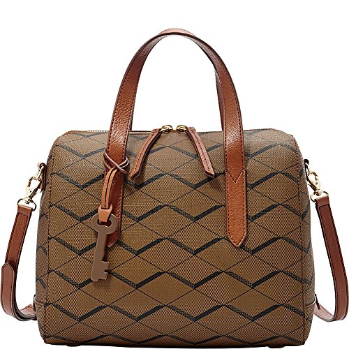 Fossil Women's Sydney Pattern Leather Shoulder Satchel