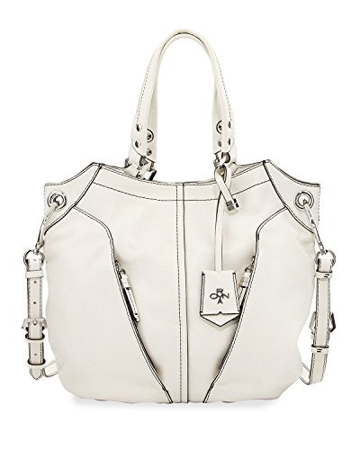 orYANY Victoria Large White Leather Hobo Satchel Tote Bag
