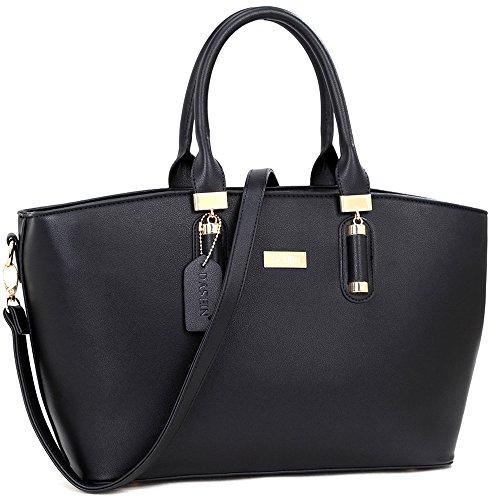 Dasein Fashion Faux Leather Work Tote, Satchel, Shoulder Bag, Handbag