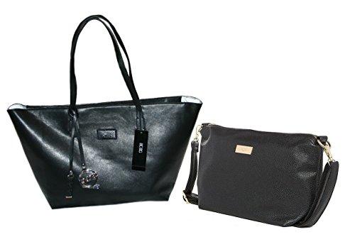 BCBGMAXAZRIA Women's Bcbg Extra Large Faux Leather Zip Tote Bag Black