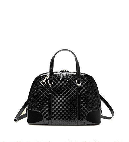Gucci Handbag Black Patent Guccissima Leather