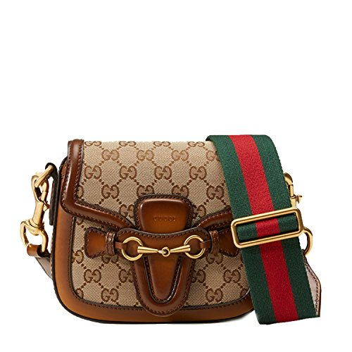 GUCCI Lady Web Original GG Canvas Crossbody Shoulder Bag 384821