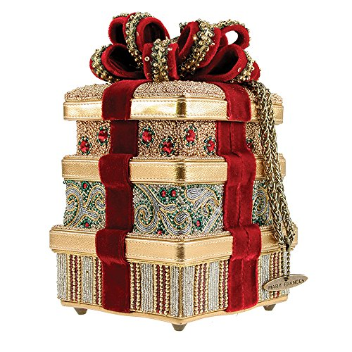 Mary Frances It's a Wrap Gold Holiday Gift Christmas Bag