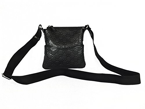 Gucci New Handbag BlackGuccissima Leather (Small Messenger)