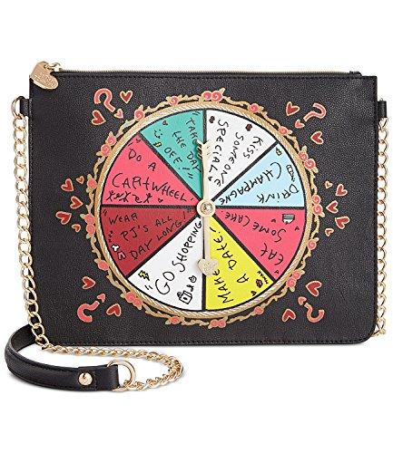 Betsey Johnson Kitch Spinner Spinner Shoulder Bag Clutch – Black