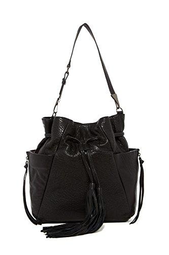 Kooba Handbags Priscilla Drawstring Soft Bubble Bucket Hobo Bag, Black