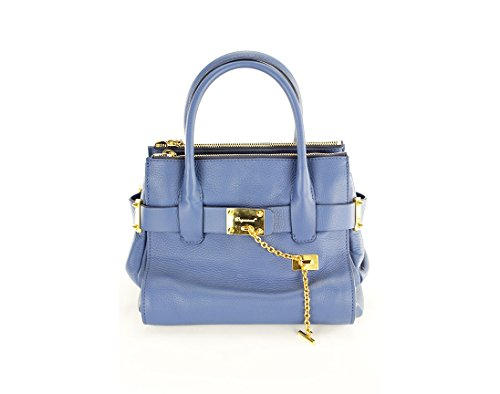 Dsquared2 Womens Quadratic Shoulder Bag – Blue Leather