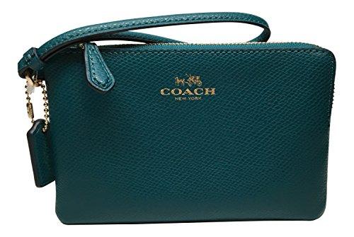 Coach Crossgrain Corner Zip Wristlet Atlantic 54626