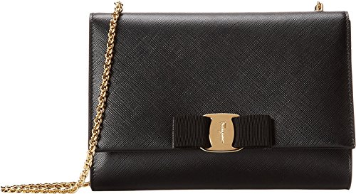 Salvatore Ferragamo Women's B558 Miss Vara Mini Bag Nero Cross Body