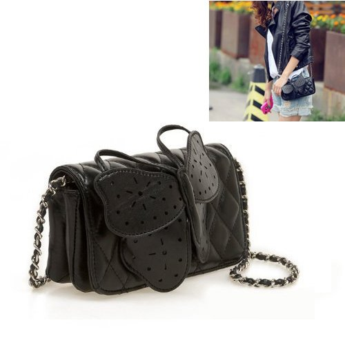 TOOGOO(R) Womens Butterfly Clutch Chain Purse Handbag Shoulder Bag Evening Party