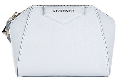 Givenchy women's leather clutch handbag bag purse antigona blu