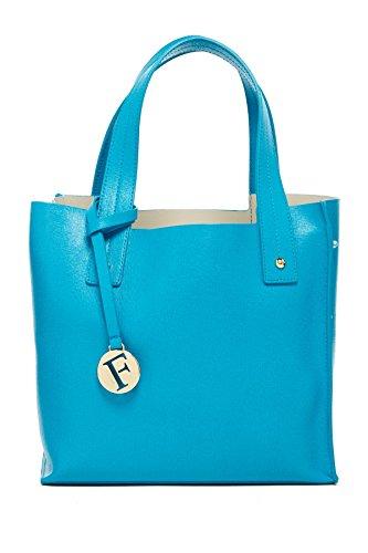 FURLA Musa Saffiano Leather Tote Bag, Turchese, One Size