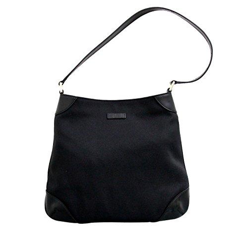 Gucci Canvas Black Capri Handbag Hobo Shoulder Bag 257296 1000