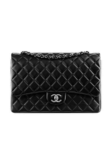 CHANEL Large Classic Flap Bag Silver Metal A58601 Y01480 C3906